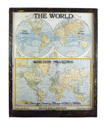 World Map Artwork by Large Antique World Map Wall Artwork Office Decor Antique Map Art