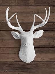 Deer Wall Decor Innovative Ideas White Deer Head Wall Decor Cool And Opulent 25