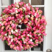spring wreath tulip wreath orange tulip wreath summer wreath
