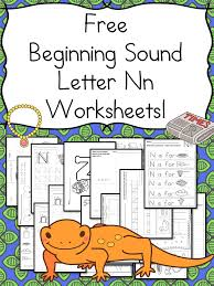 beginning sounds letter n worksheets free and fun