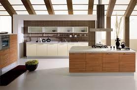 modern wood kitchen design modern kitchen ideas with white floor and wooden cabinet 3729