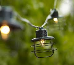 String Outdoor Patio Lights by Amazon Com Metal Cage Lantern String Party Lights 10 Light