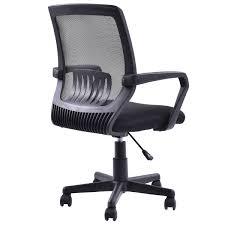 costway modern ergonomic mid back mesh computer office chair desk