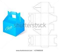 box gift blueprint box template craft stock vector 437960038