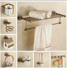aliexpress com buy aluminum bathroom accessories set antique