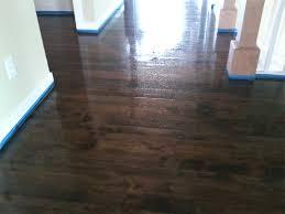 custom finish wood flooring stained maple