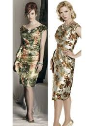 mad men dress 60s vintage dresses mad men style gold metallic floral cocktail