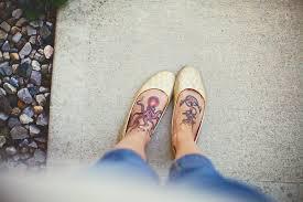 small heart foot tattoos octopus anchor foot tattoo under the sea tats pinterest