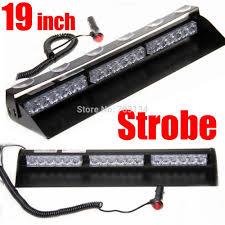 led emergency light bars cheap 18 led 19inch car dash windshield led police light bar firefighter