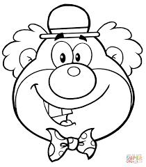 funny clown head coloring farsang carnaval