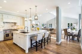 Flooring For Open Floor Plans A Beautiful Open Plan Kichen With Marina Oak Wood Floors Designed