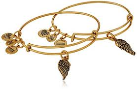 bangle charm bracelet gold images Alex and ani path of symbols wings set of 2 gold jpg