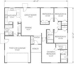 house plans with 4 bedrooms ranch house floor plans 4 alluring 4 bedroom house plans home