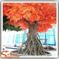 2016 best selling artificial maple tree plastic large decorative