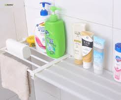 Telescopic Bathroom Shelves 1pc Wardrobe Storage Rack Free Telescopic Spacer Frame Bathroom