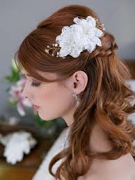hair flower floral hair pieces for brides bridal hairstyle with flower