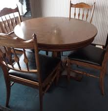 dining room table slides mid 20th century watertown slide dining table and chairs ebth