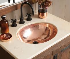 Bathroom Vanity With Copper Sink 13 Smart Ways To Bring Home Polished Copper And Nickel Sinks