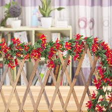 Imitation Plants Home Decoration Lily Flower Rattan Indoor Artificial Flower Decoration Plastic