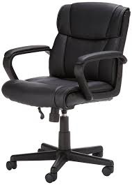 Used Office Chairs In Bangalore Amazonbasics Mid Back Office Chair Black Amazon In Home U0026 Kitchen