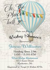 air balloon invitation baby shower invitation sugar and