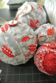 a merry gray five scrappy fabric ornament