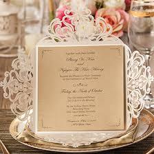 laser cut invitations graceful ivory shimmery laser cut wedding invitations ewws023 as