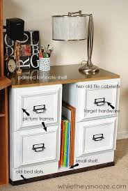 Diy File Cabinet Desk How To Make A Filing Cabinet Beautiful Home Ideas