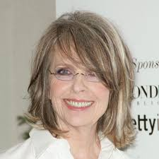 54 Hairstyles For 50 Best by Diane Keaton S Best Hairstyles Mauve Side Sweep Bangs