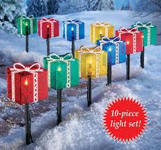 pre lit christmas gift boxes 27 best outdoor christmas decorations lighted gift boxes images on