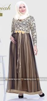 Baju Muslim Brokat model baju gamis brokat untuk orang gemuk dan pantas plus size