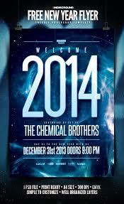 high quality new year 2014 flyer templates with psd freebies