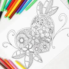 easy peasy coloring page heart colouring page for grown ups red ted art s blog
