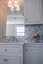 Gray Glass Tile Backsplash by Iridescent Glass Tile Backsplash Contemporary Kitchen