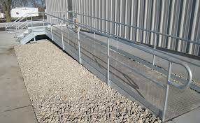 Wheelchair Ramp Handrails Industrial Stairs Catwalks U0026 Ladders Elemetal Fabrication And