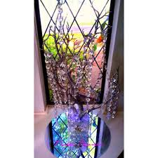 hanging crystals sale bling manzanita tree centerpiece silver glitter bling