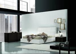 Bedroom Furniture  Modern Kids Bedroom Furniture Large Concrete - White leather contemporary bedroom furniture