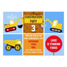 under construction birthday invitations u0026 announcements zazzle