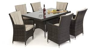 rattan dining room sets maze rattan la 6 seat rectangle dining set maze living