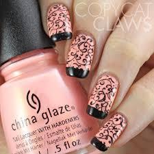 pink and black nail ideas