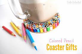 diy coaster colored pencil gifts for teachers