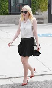 Short Skirts High Heels Dakota Fanning In Short Skirt And High Heels In Nyc 3 Sawfirst