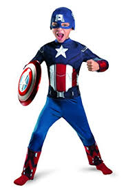 Captain Halloween Costume Amazon Disguise Boys Captain America Avengers Kids Costume