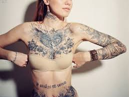 best 25 female chest tattoo ideas on pinterest chest tattoo for