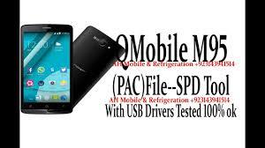 qmobile m95 pac flash file spd upgrade tool usb drivers