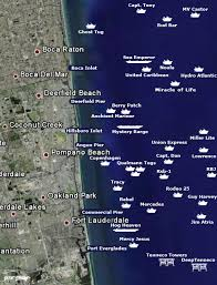florida shipwrecks map cool map of shipwrecks for diving and snorkle in our area from