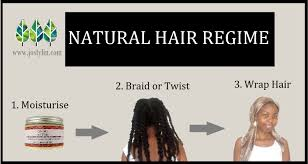 night time regimen for natural hair growth grow 4c hair fast