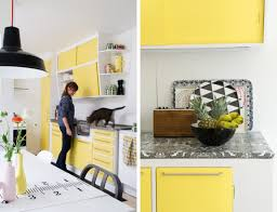 Yellow Kitchens With White Cabinets - lift the mood with yellow kitchen cabinets my home design journey
