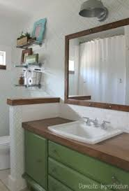 Wood Bathroom Vanity by I Needed A Cheap Solution For The Vanity Top In Our Bathroom And