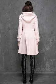 pink jacket wool coat womens coats winter coatpink wool